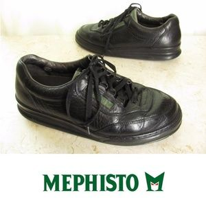 Mephisto Shoes 9.5 M Mens Black Leather Oxfords